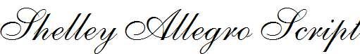 Shelley-Allegro-Script