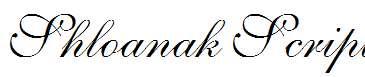 Shloanak-Script