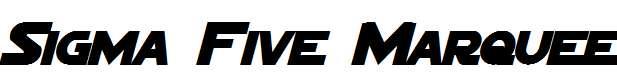 Sigma-Five-Marquee-Bold-Italic