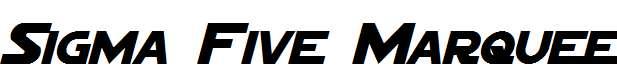 Sigma-Five-Marquee-Italic