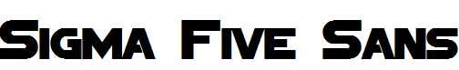 Sigma-Five-Sans-Bold