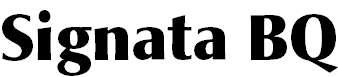 SignataBQ-Bold