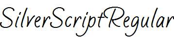 SilverScriptRegular-Regular