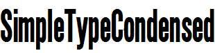 SimpleTypeCondensed-Bold