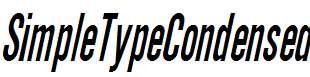 SimpleTypeCondensed-Italic