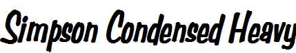 Simpson-Condensed-Heavy-BoldItalic