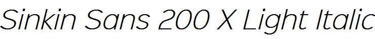 Sinkin-Sans-200-X-Light-Italic