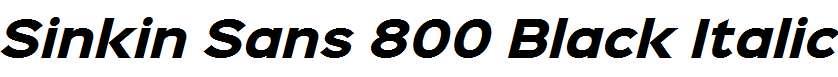 Sinkin-Sans-800-Black-Italic