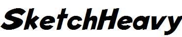SketchHeavy-Italic