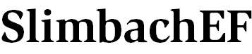 SlimbachEF-Bold
