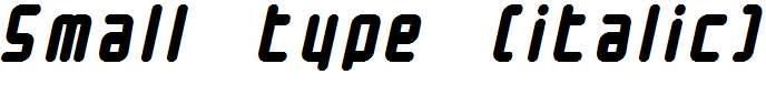 Small-type-italic-