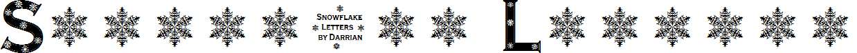Snowflake-Letters