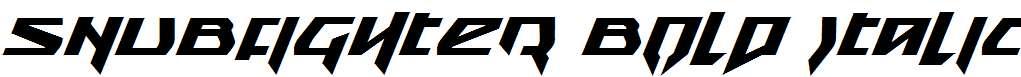 Snubfighter-Bold-Italic