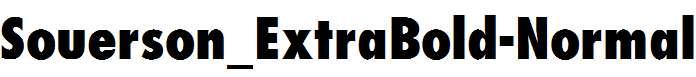 Souerson_ExtraBold-Normal