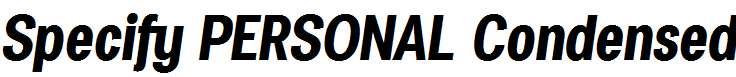Specify-PERSONAL-Condensed-Bold-Italic