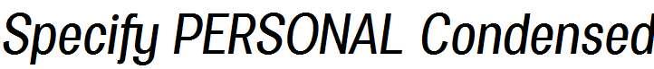 Specify-PERSONAL-Condensed-Medium-Italic