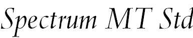 SpectrumMTStd-Italic