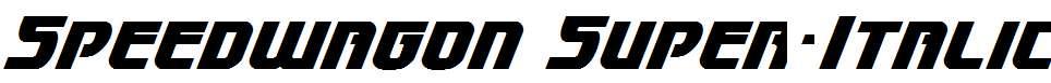 Speedwagon-Super-Italic