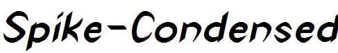 Spike-Condensed-Bold-Italic