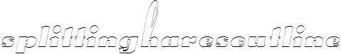 SplittingHaresOutline-Oblique-1-