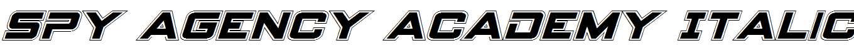 Spy-Agency-Academy-Italic