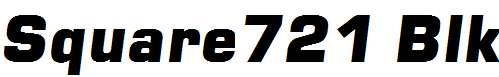 Square721-Blk-Italic