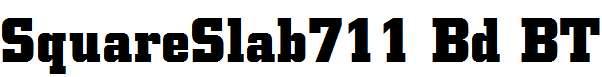 SquareSlab711-Bd-BT-Bold
