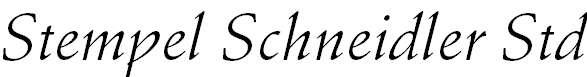 StempelSchneidlerStd-Italic