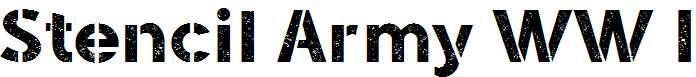 Stencil-Army-WW-I