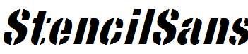 StencilSans-Bold-Italic