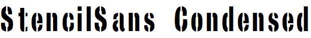 StencilSans-Condensed