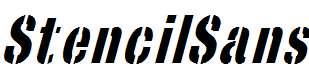 StencilSans-Italic