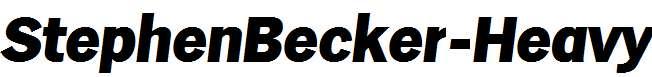 StephenBecker-Heavy-Italic
