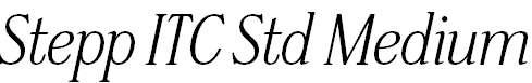 SteppITCStd-MediumItalic