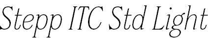 SteppITCStdLight-Italic