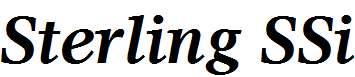 Sterling-SSi-Bold-Italic