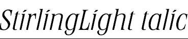 StirlingLightItalic