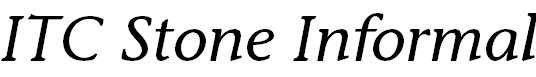 StoneInformal-Italic
