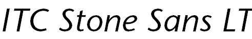 StoneSansLT-Italic