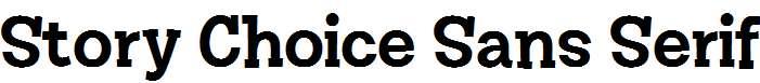Story-Choice-Sans-Serif