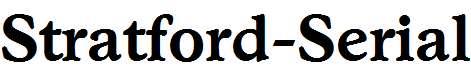 Stratford-Serial-Bold