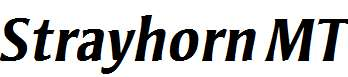 Strayhorn-MT-Bold-Italic