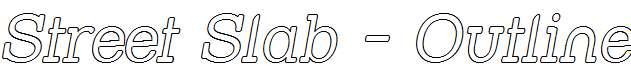Street-Slab-Outline-Italic