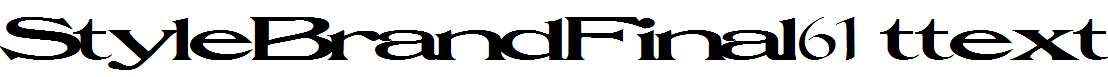 StyleBrandFinal61-Regular-ttext