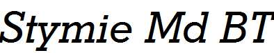 Stymie-Medium-Italic-BT