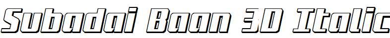 Subadai-Baan-3D-Italic
