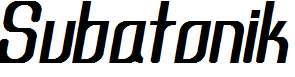 Subatonik-Italic