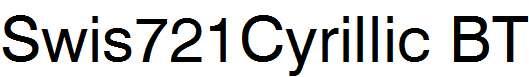 Swiss-721-Cyrillic-BT