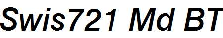 Swiss-721-Medium-Italic-BT