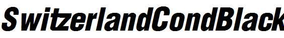 SwitzerlandCondBlack-Italic